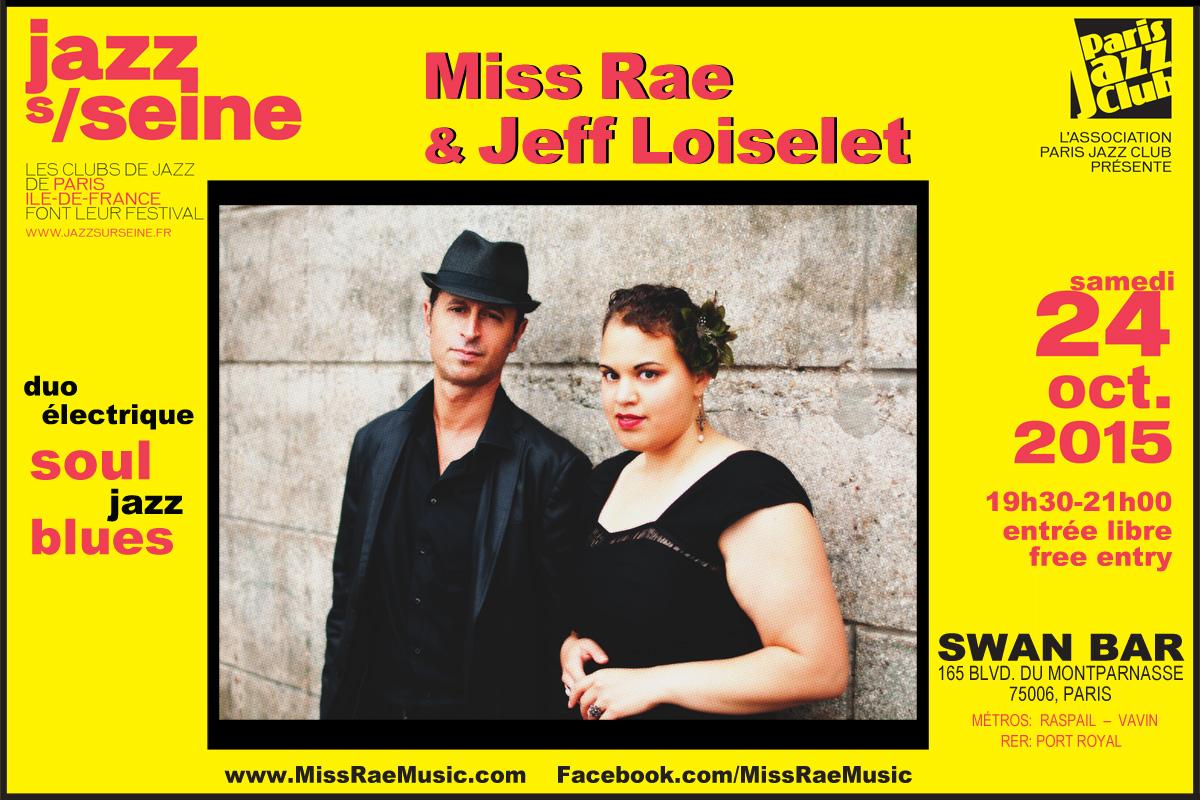 Jazz sur seine avec Miss Rae & Jeff Loiselet_Swan Bar_24 Oct 2015