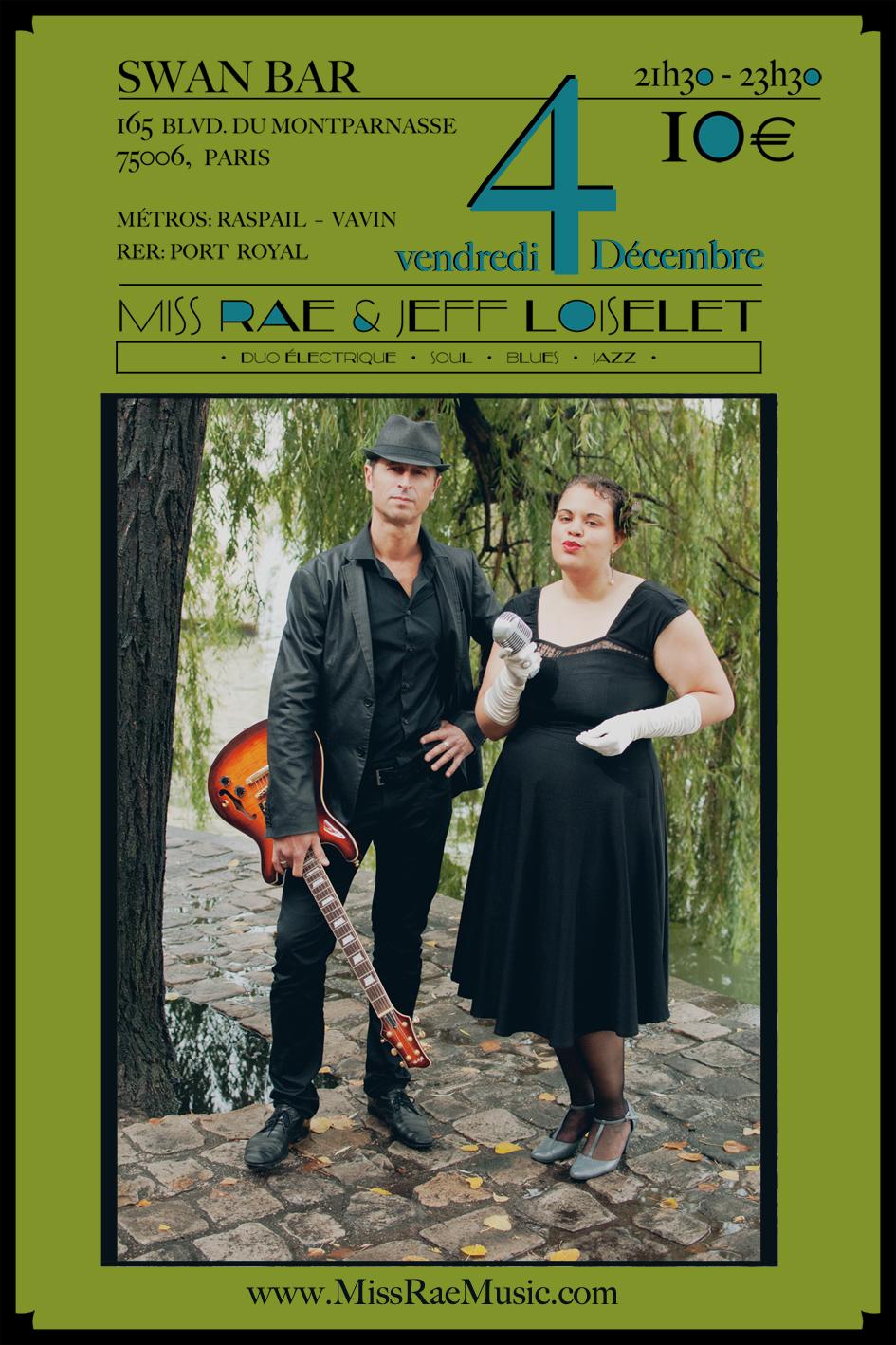 40x60_Miss Rae & Jeff Loiselet en concert à Paris_4 Decembre 2015_SWAN BAR