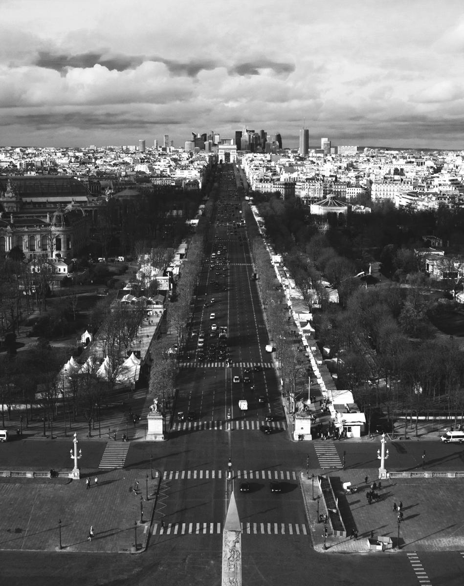 01_Paris_Janvier 2016_BW Champs-Elysees