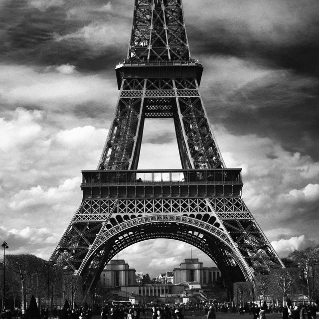 Miss Rae's Snapshots of Paris_Tour Eiffel BW