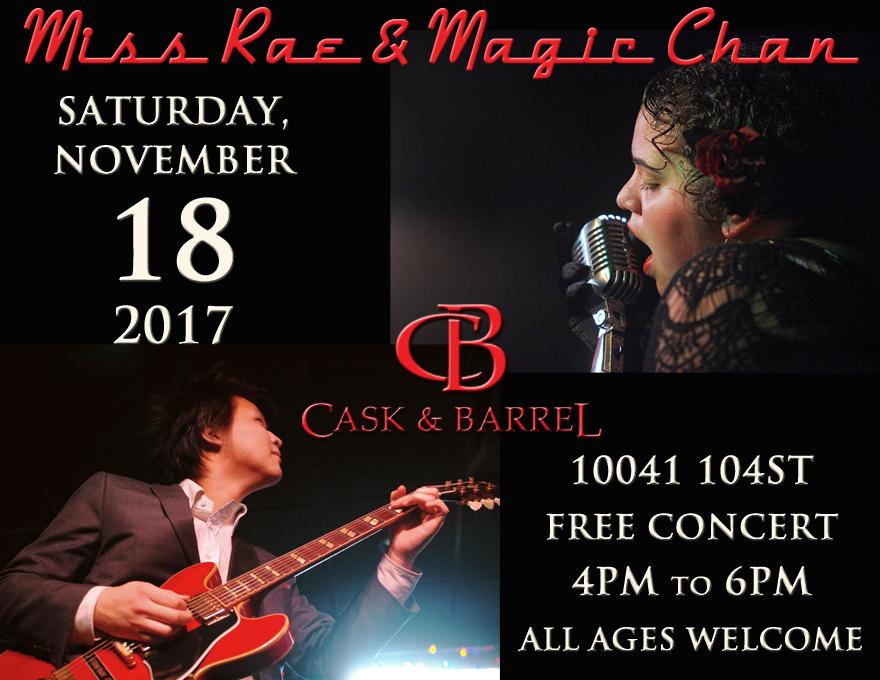 Miss Rae & Magic Chan at Cask & Barrel_Nov 18 2017_WEB